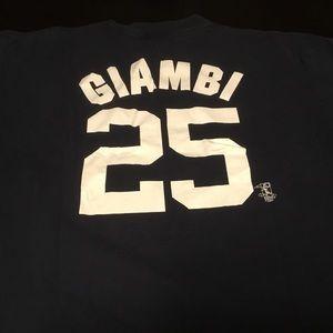 Majestic New York Yankees Jason Giambi T-shirt 2X